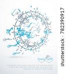 futuristic technology...   Shutterstock . vector #782390917