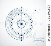 engineering technological... | Shutterstock . vector #782391577