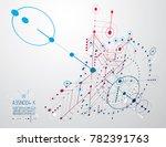 technical plan  abstract... | Shutterstock . vector #782391763