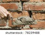 tool shovel  glue   hand worker