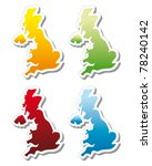 stickers in form of united... | Shutterstock .eps vector #78240142
