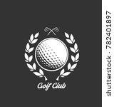 golf club logo design template  ... | Shutterstock .eps vector #782401897