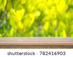 wooden fence on green tree... | Shutterstock . vector #782416903