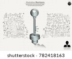 key  a keyhole   background... | Shutterstock .eps vector #782418163