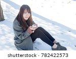 beautiful asian women playing... | Shutterstock . vector #782422573