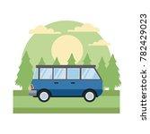 vintage van vehicle in the... | Shutterstock .eps vector #782429023