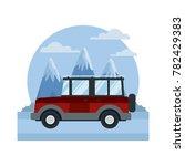 suv sport vehicle between... | Shutterstock .eps vector #782429383