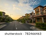 a row of elegant bungalow house ... | Shutterstock . vector #782466463