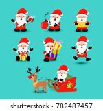 christmas holiday set of cute... | Shutterstock . vector #782487457