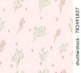 flowers seamless pattern on... | Shutterstock .eps vector #782491837