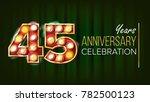 45 years anniversary banner.... | Shutterstock . vector #782500123