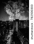 fireworks in the city next to... | Shutterstock . vector #782500303