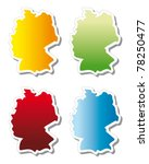 stickers in form of germany | Shutterstock .eps vector #78250477