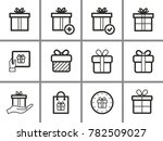 gift box vector icons set.... | Shutterstock .eps vector #782509027