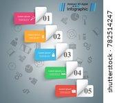 business infographics origami... | Shutterstock .eps vector #782514247