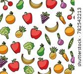 vegetables and fruits fresh...   Shutterstock .eps vector #782542213