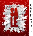 winter sale banner. decorative... | Shutterstock .eps vector #782557573