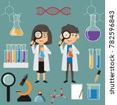 couple scientist illustration.... | Shutterstock .eps vector #782596843