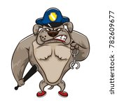 the police dog character... | Shutterstock .eps vector #782609677