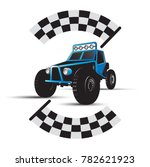 blue color off road car with... | Shutterstock .eps vector #782621923