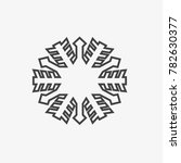 snowflake vector icon on grey...