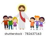 illustration of stickman kids... | Shutterstock .eps vector #782637163