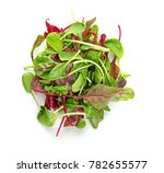 mix of different salads on... | Shutterstock . vector #782655577