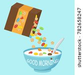 vector illustration. cereal... | Shutterstock .eps vector #782658247
