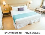 comfortable pillow on bed... | Shutterstock . vector #782660683
