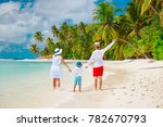 happy family with child enjoy... | Shutterstock . vector #782670793