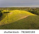 aerial view over yellow rape... | Shutterstock . vector #782683183