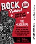 rock poster template | Shutterstock .eps vector #782687617