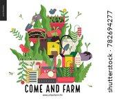 urban farming and gardening... | Shutterstock .eps vector #782694277