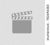 film flap vector icon eps 10. | Shutterstock .eps vector #782696383