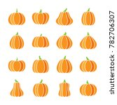 colorful halloween pumpkin icon ... | Shutterstock . vector #782706307