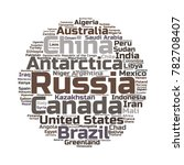 100 biggest countries word... | Shutterstock .eps vector #782708407