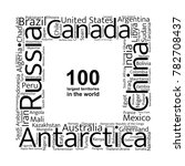 100 biggest countries word... | Shutterstock .eps vector #782708437