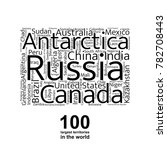 100 biggest countries word... | Shutterstock .eps vector #782708443