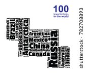 100 biggest countries word... | Shutterstock .eps vector #782708893