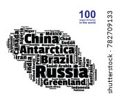 100 biggest countries word... | Shutterstock .eps vector #782709133