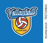 volley ball logo with text... | Shutterstock .eps vector #782720863