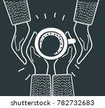 vector cartoon illustration of... | Shutterstock .eps vector #782732683