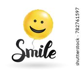 smile yellow balloons | Shutterstock .eps vector #782761597