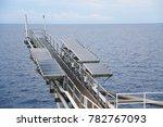 offshore construction platform...   Shutterstock . vector #782767093