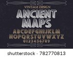 font alphabet script typeface... | Shutterstock .eps vector #782770813