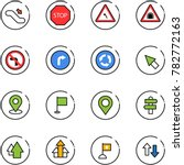 line vector icon set  ... | Shutterstock .eps vector #782772163