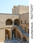 Small photo of July 2007: Photo of palace of the Grand Master in fortified medieval old town of Rhodes island, Dodecanese, Greece