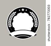 medal badge template design.... | Shutterstock .eps vector #782773303