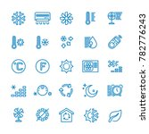 air conditioning line icons.... | Shutterstock . vector #782776243