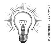 engraving light bulb | Shutterstock .eps vector #782779477